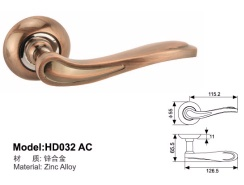 door handle on rose lock HD032 - HD032AC