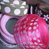 printed ribbon,dot ribbon,polka dot ribbon,grosgrain ribbon,dot grosgrain ribbon,printed ribbons,pink ribbon,wedding ribbon - Printed Ribbons