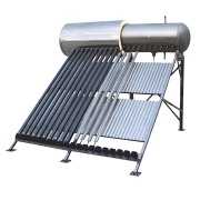 High pressurized solar water heater with heatpipe - solar water heating
