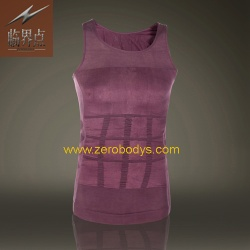 ZeroBodys Mens Body Shaper Singlet (Purple) - 107