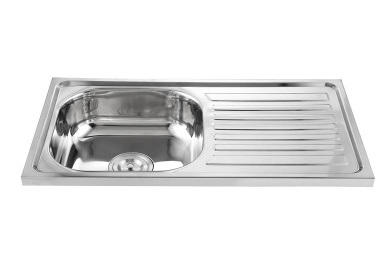 High quality standard stainless steel kitchen sink with drainboard - WY-7540