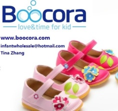 Squeaky Shoes, Girls, with flowers Squeaker,-Boocora - BOOCORA Baby shoes
