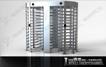 Stainless steel Full height Turnstile Rotation doors for high security entry solution - CXTZY1704