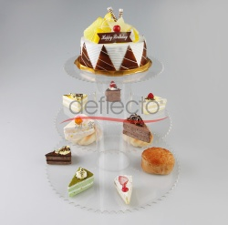 Deflect-o Acrylic Cake Display Holder,399x240(mm) - TM1508123