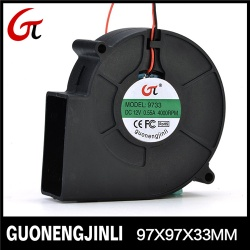 Manufacture selling 12V 9733 dc blower fan with large air flow for treadmill - GNJLB9733