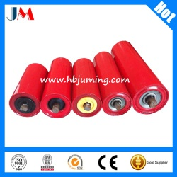 high quality red carrying idler roller/ conveyor idler roller - Popular DT II Type c