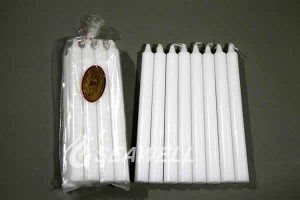 Smokeless White Color Palm Wax Stick Candle - 006
