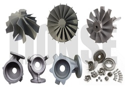 nickel alloy IN738 casting turbo for marine turbochargers,impeller,vane,gas turbine,turbine housing - 2