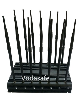 WiFi GSM CDMA 3G  Full-Band Wireless Cell Phone Signal Jammer with 14 Antenna Jammer - CPJX14