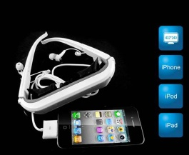 new style Simulated Display Virtual Screen Video Glasses For iPod/ iPhone/ iPad with 84 inches display - XM002