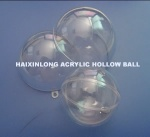High transparent Acrylic hollow ball for displaying gifts - plastichollowball