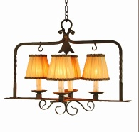 forged iron chandelier - chandelier