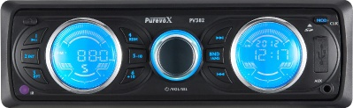double LCD displayer car mp3 player with remote control - PV-382