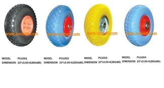 PU foam rubber wheel - rubber wheel