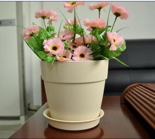 Cheap Price  Round Ceramic Apricot High Quality Plant Pots - P1105