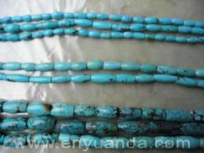 Turquoise drum/tube beads - YD08/YD09